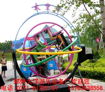 2020销售火爆儿童游乐三维太空环 郑州大洋厂家直销三维太空环项目游艺设施设备示例图17