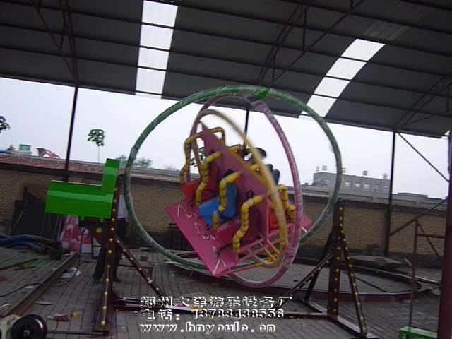 2020销售火爆儿童游乐三维太空环 郑州大洋厂家直销三维太空环项目游艺设施设备示例图15