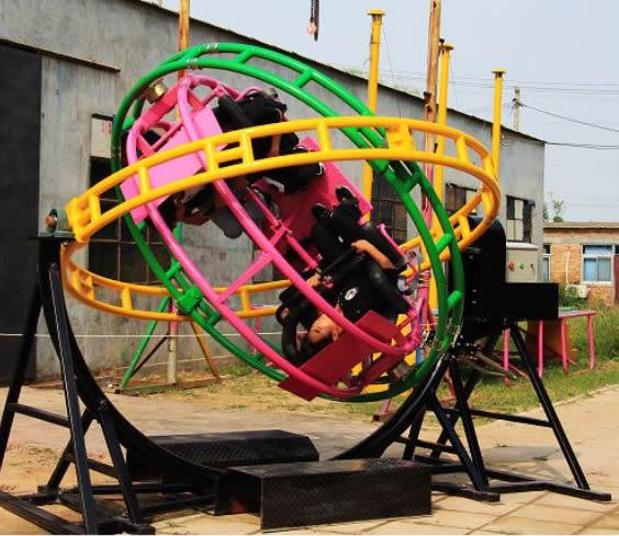 2020销售火爆儿童游乐三维太空环 郑州大洋厂家直销三维太空环项目游艺设施设备示例图10