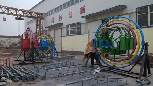2020销售火爆儿童游乐三维太空环 郑州大洋厂家直销三维太空环项目游艺设施设备示例图7